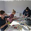 Atelier cadre pêle mêle - les photos