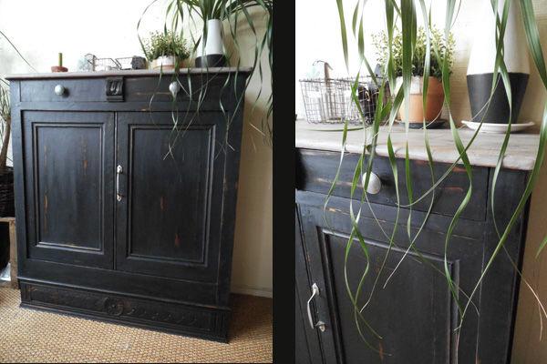 transformation in black ce petit meuble pas un jour un. Black Bedroom Furniture Sets. Home Design Ideas