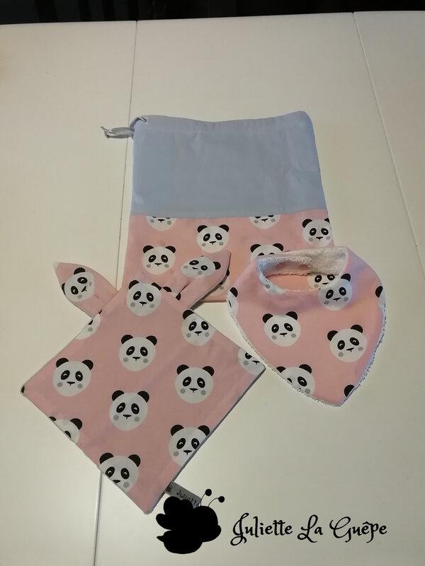 panda rose gris
