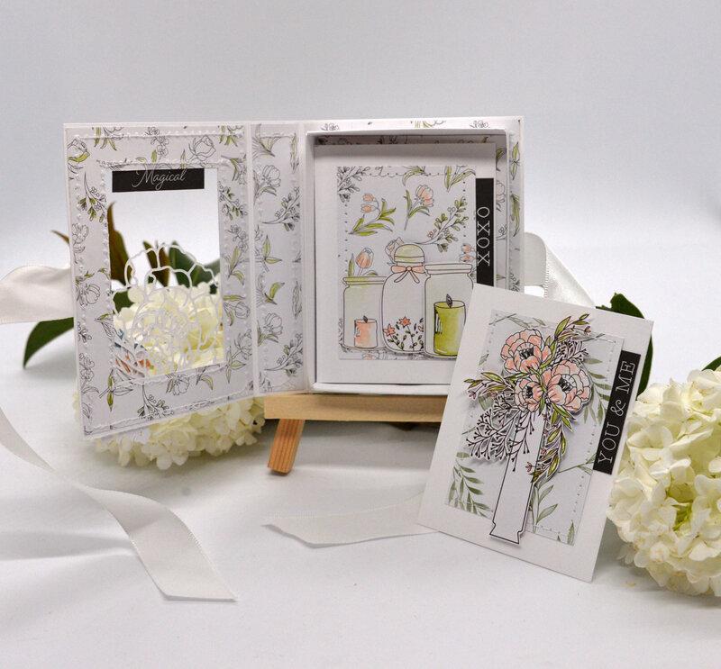 boite fete des meres-vue de face-ouverte avec cartes-collection so special- sokai-claire scrap at home