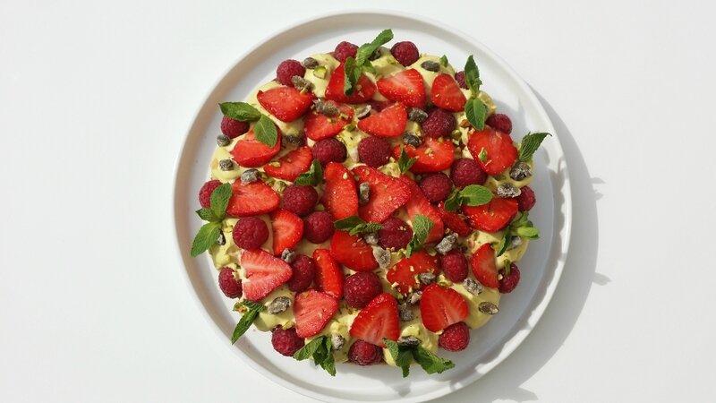 Fantastik fraises framboises pistaches