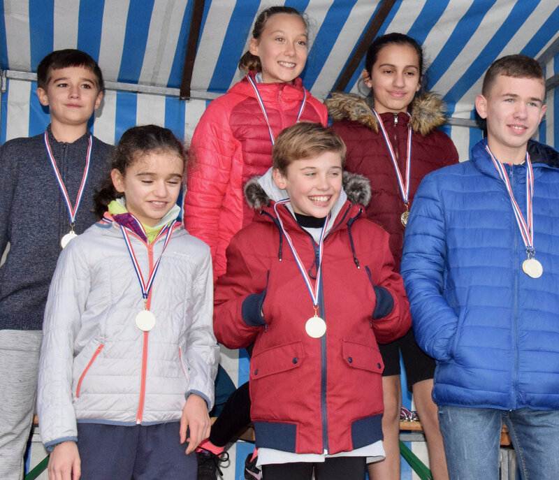 UNSS CROSS-COUNTRY BUIRE 2019 benjamins équipe mixte - Collège Le Nain Laon