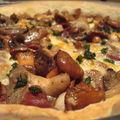 ...tarte forestière au magret de canard séché... (automne, cuisine et vin de france)