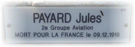 Sépulture PAYARD Jules Jean Baptiste