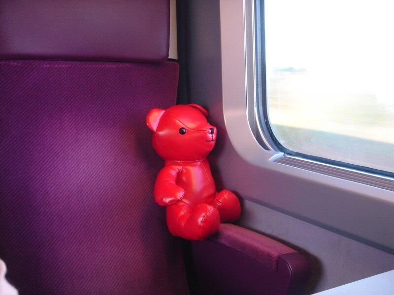 Syd dans le TGV pour Paris le 4 Septembre