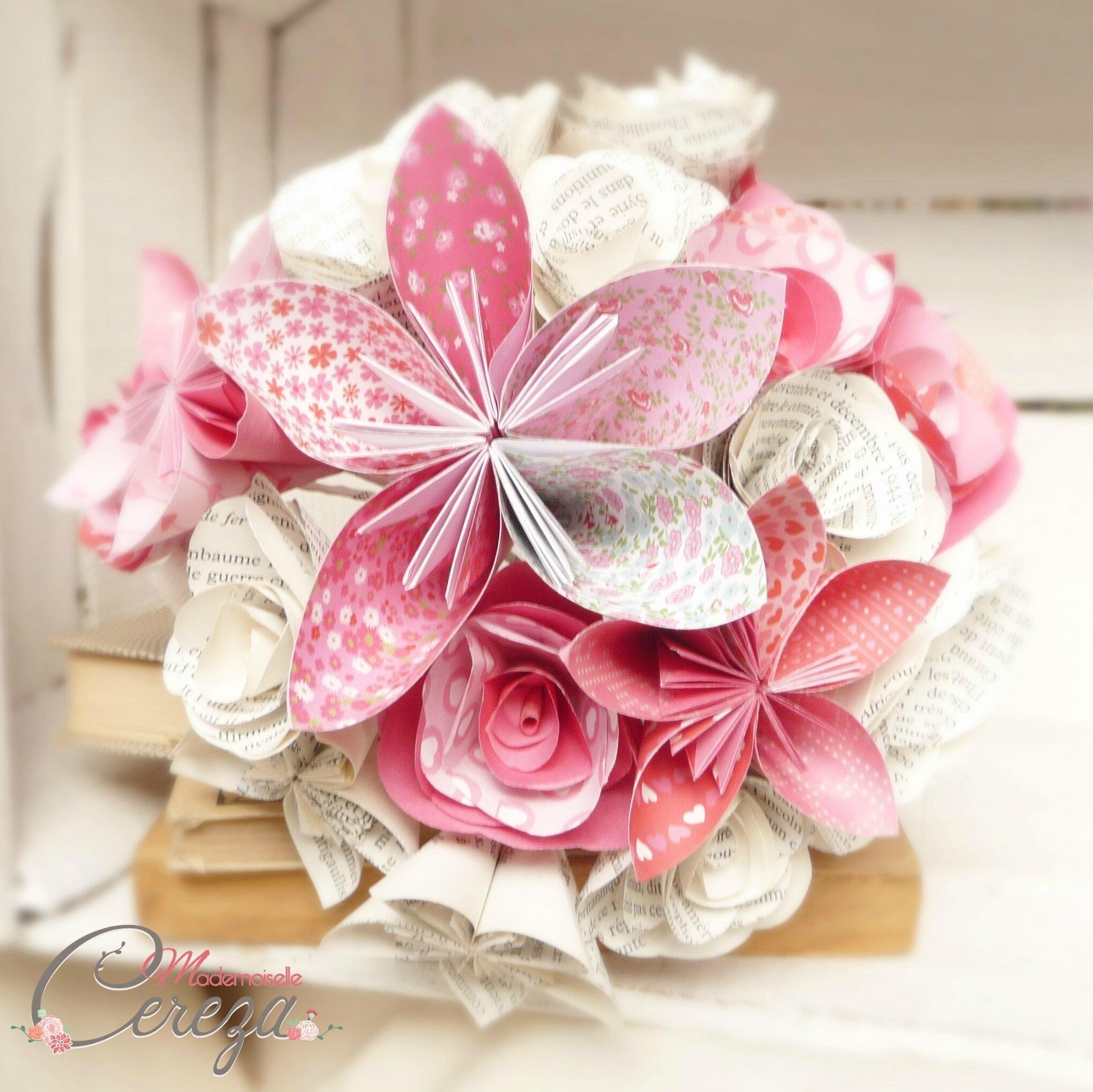 bouquet mariee original atypique papier origami cereza mademoiselle 2