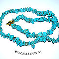 Collier howlite turquoise 3