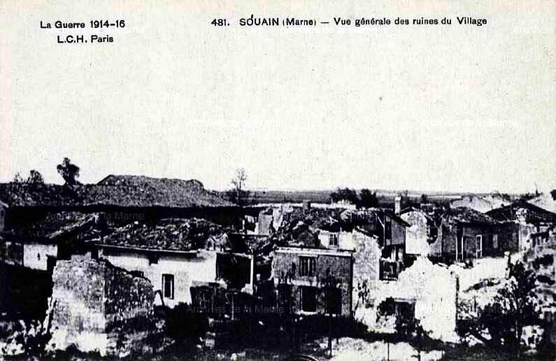 Souain ruines village