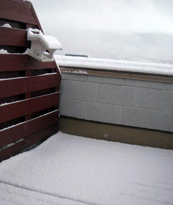 balcon enneigé