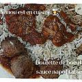 Boulette de boeuf sauce napolitaine