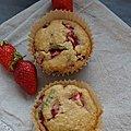 Muffins léger fraise menthe