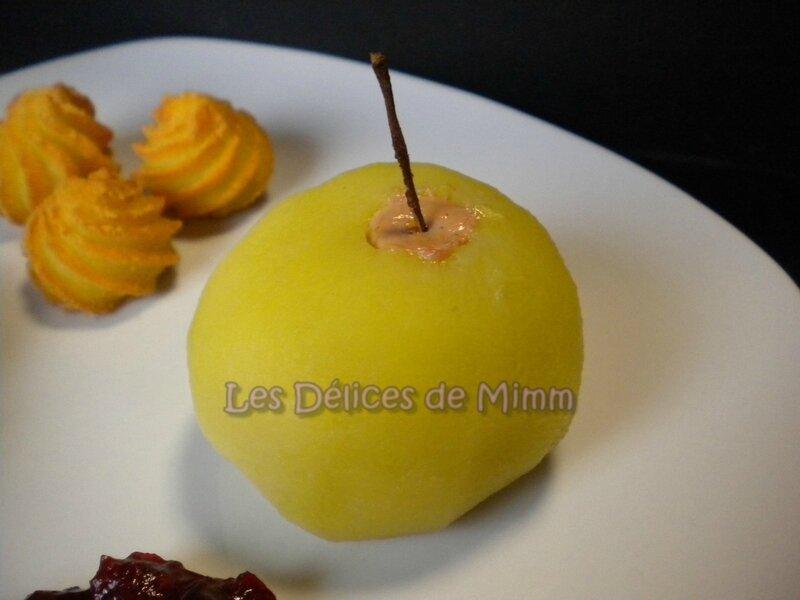 Pommes pochées au foie gras 4