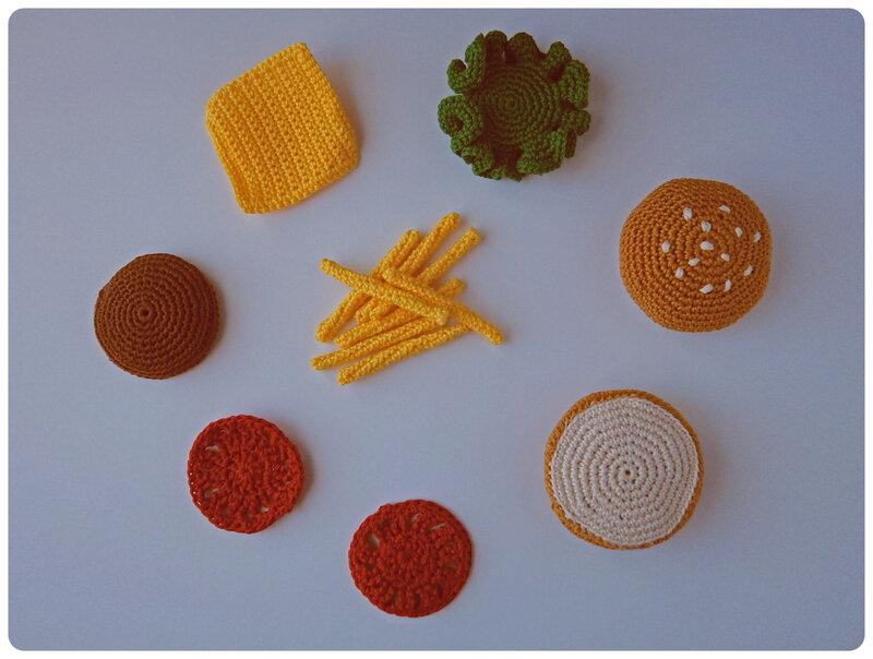 Hamburger au crochet Cam&Drey bricolent