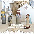 Crèche Tradi Merry Christmas