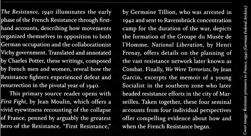 The Resistance, 1940