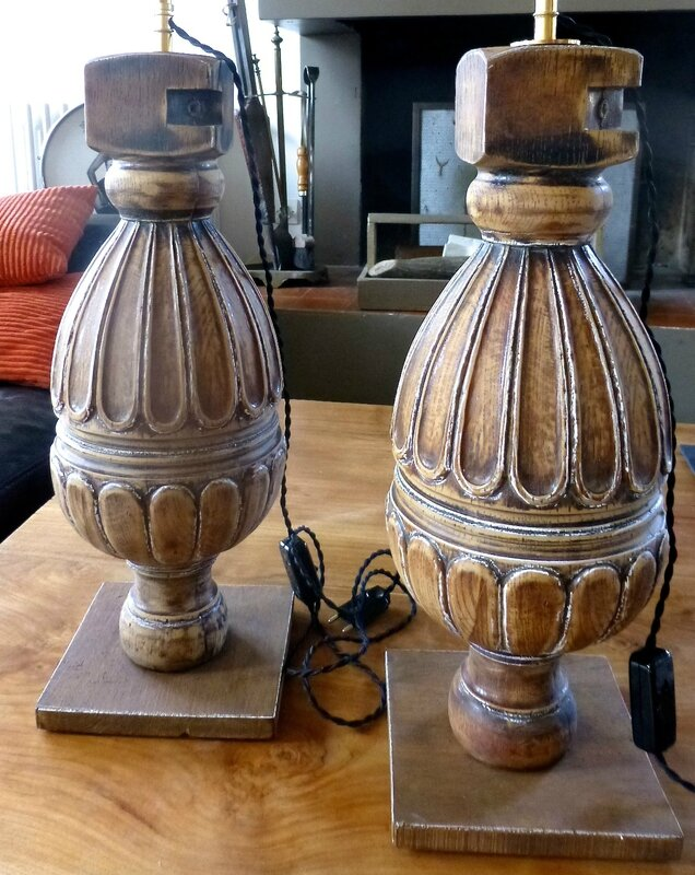 2 PIEDS LAMPE BALUSTRE