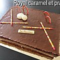 Royal caramel praline