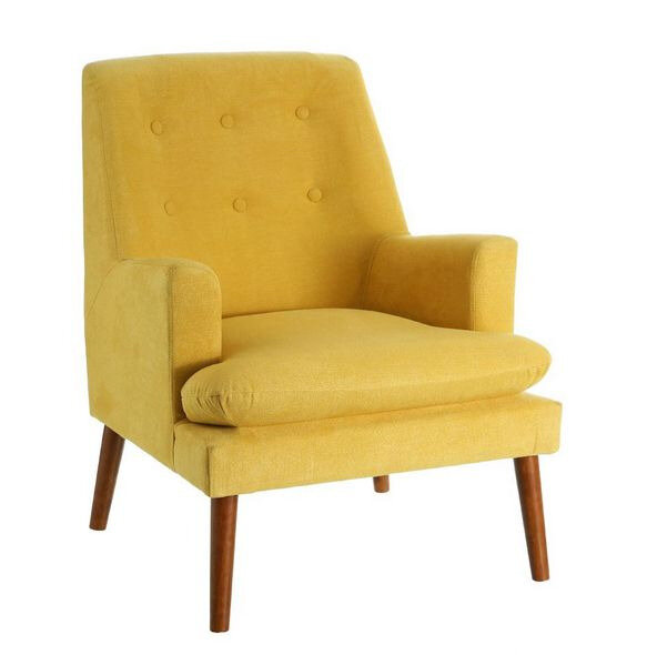 fauteuil moutarde large