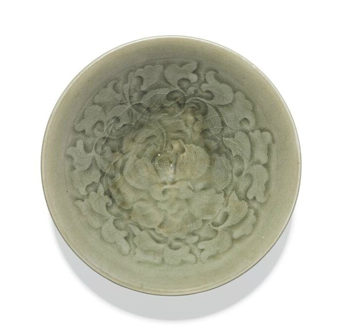 A 'Yaozhou' moulded 'floral' bowl, Song-Jin dynasty