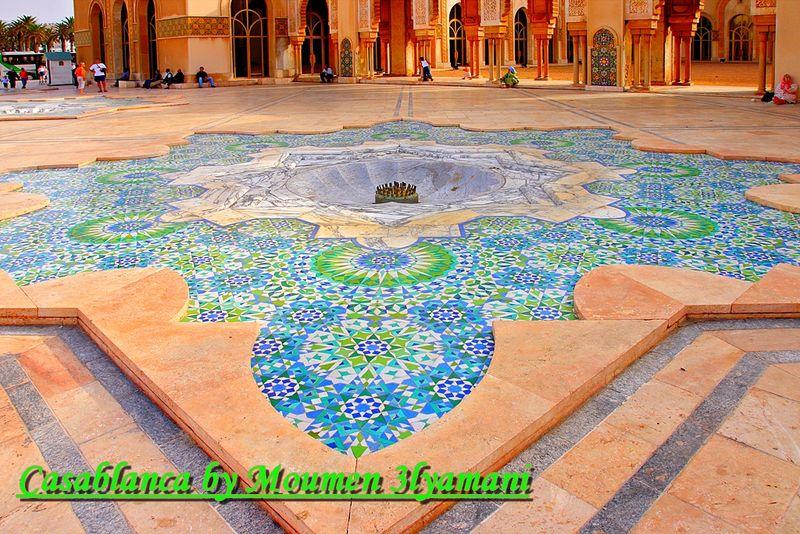 Mosaique de la Fontaine Mosquee Hassan 2 Casablanca