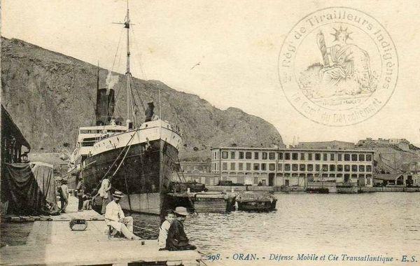 Oran- 164- travail sur les quais