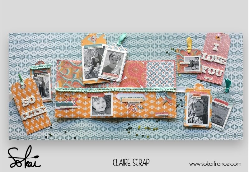 mini tag Maé - collection So'leil levant- ouvert #2 - claire scrapathome - sokai