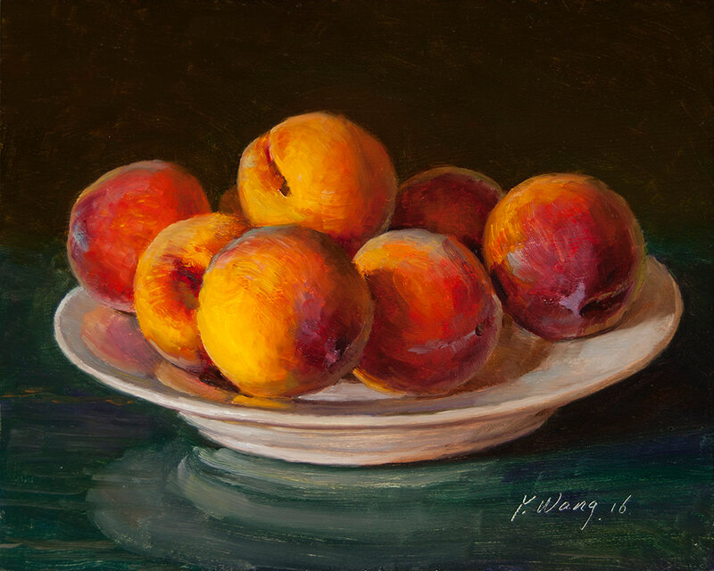 fresh fruits yellow peaches eugene wang