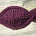 aplliqué patch poisson au crochet