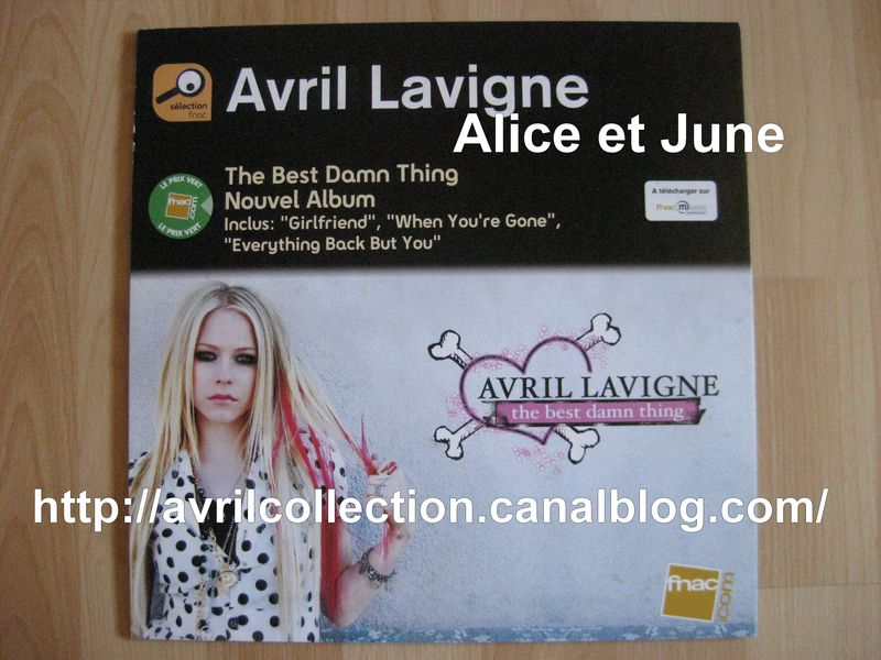 Panneau Promotionnel The Best Damn Thing Fnac (2007) France