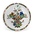 A famille verte 'floral' charger, kangxi period (1662-1722)