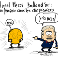 Ballon d'or, lionel messi, résultat, football et main peccable