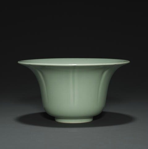 A celadon glazed deep dish, Zhendetangfour-character mark, Daoguang. Photo Bonhams