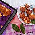 Courgettes farcies, mini-cakes aux tomates-cerises