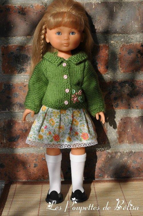 509c6aec1525 J ai trouvé un joli modèle de gilet à tricoter .... - Les poupettes ...