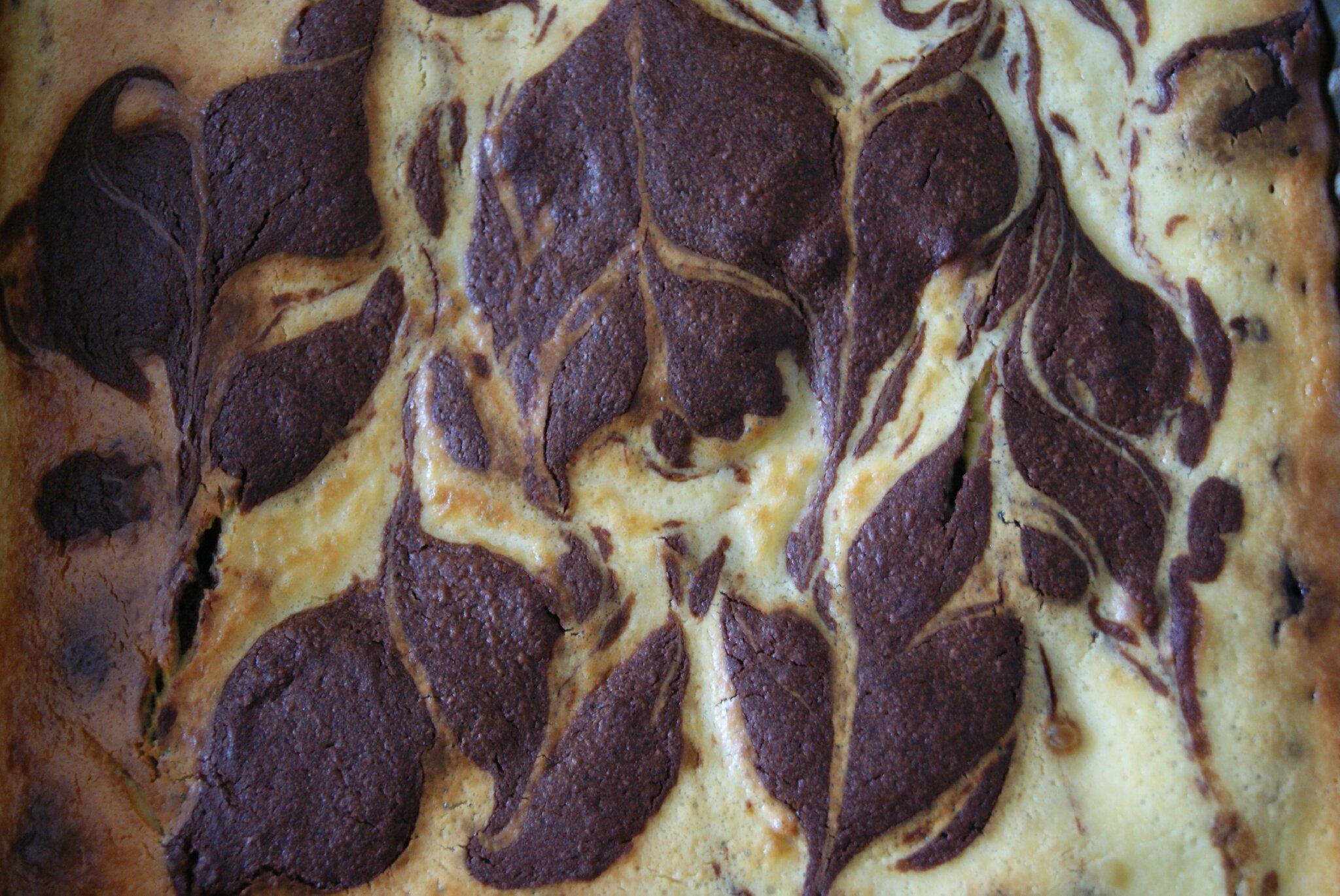 Brownie marbré façon cheesecake de Sophie