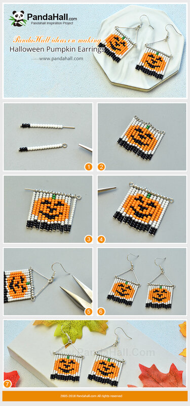 2-PandaHall-ideas-on-making-Halloween-Pumpkin-Earrings