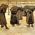 Dessin Van Gogh - miners-wives-carrying-sacks-of-coal