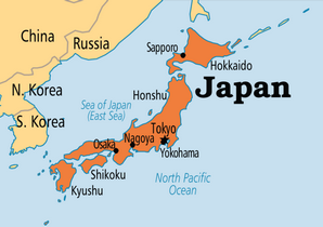 Japan-on-map