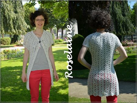 Roselaine217 lace cardigan