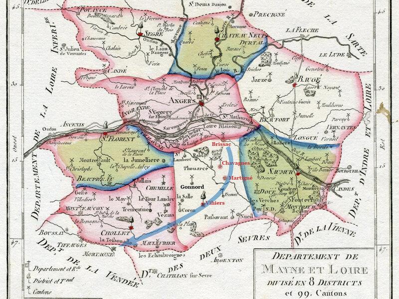 Carte Maine-et-Loire 1790