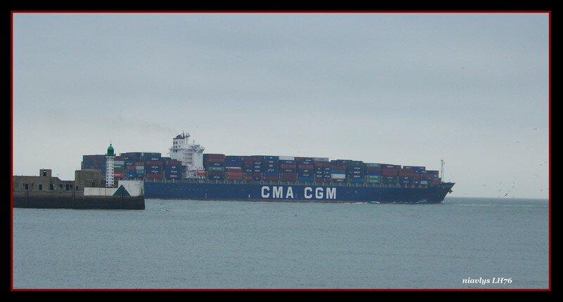 Sortie de port 2000 pour le CMA CGM Baudelaire
