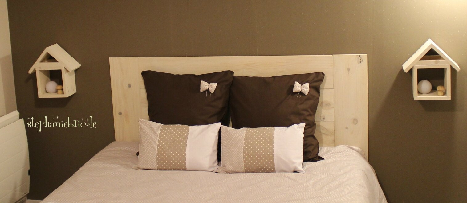 Planche Pour Tete De Lit une tête de lit en bois très facile à faire - stéphanie bricole