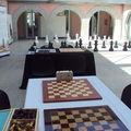 Exposição de xadrez em ponte da barca