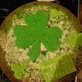 Gâteau de la St Patrick décoré !