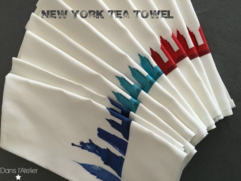new york city tea towel