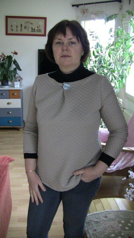 Confortable et blouse... c'est Germaine qui va être contente... !