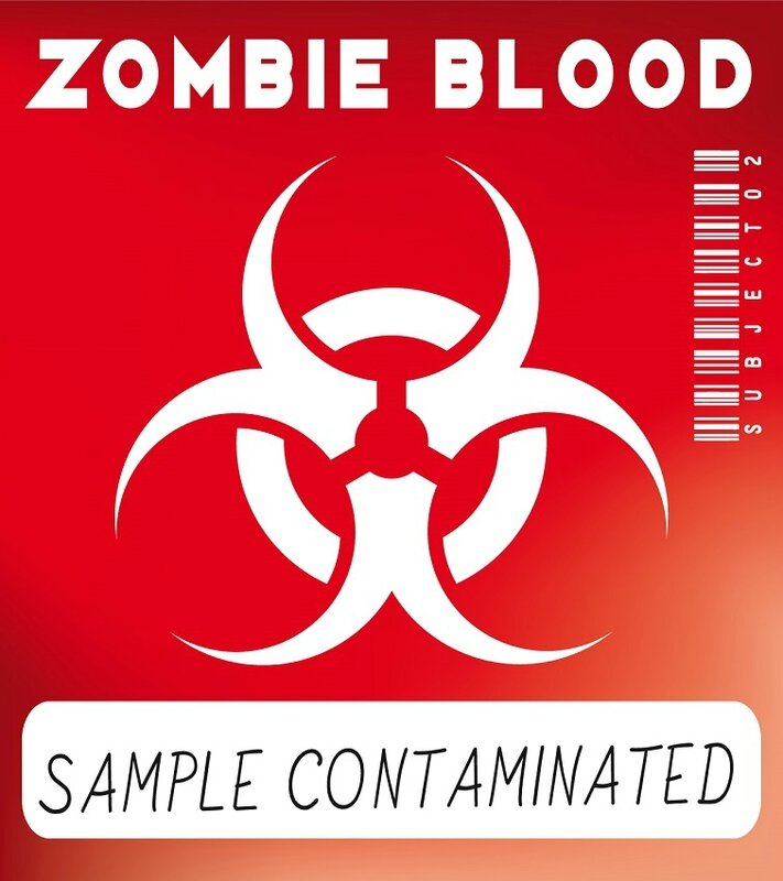 sample comtaminated blood zombie label virus
