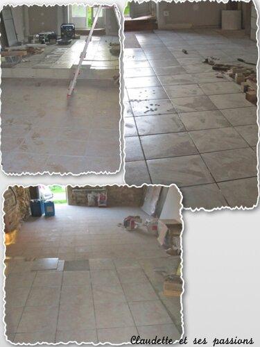 Les sols de la pièce à vivre bientôt terminés