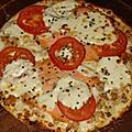 Pizza saumon, boursin