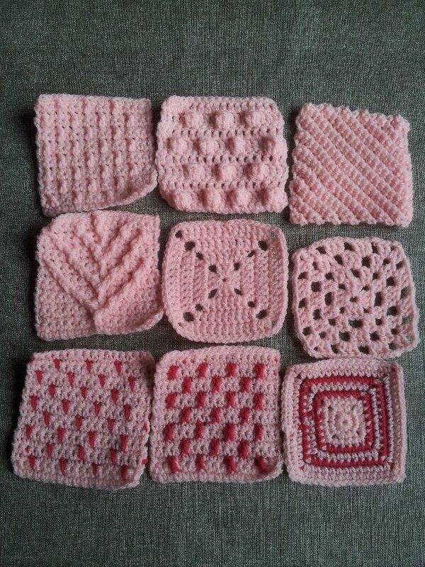 carrés roses 1